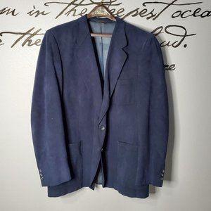 Kingsridge Blue Suede 2 Button Sports Coat